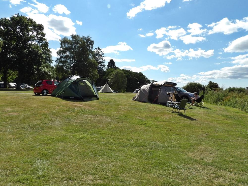 Grass camping pitches at Bunchrew