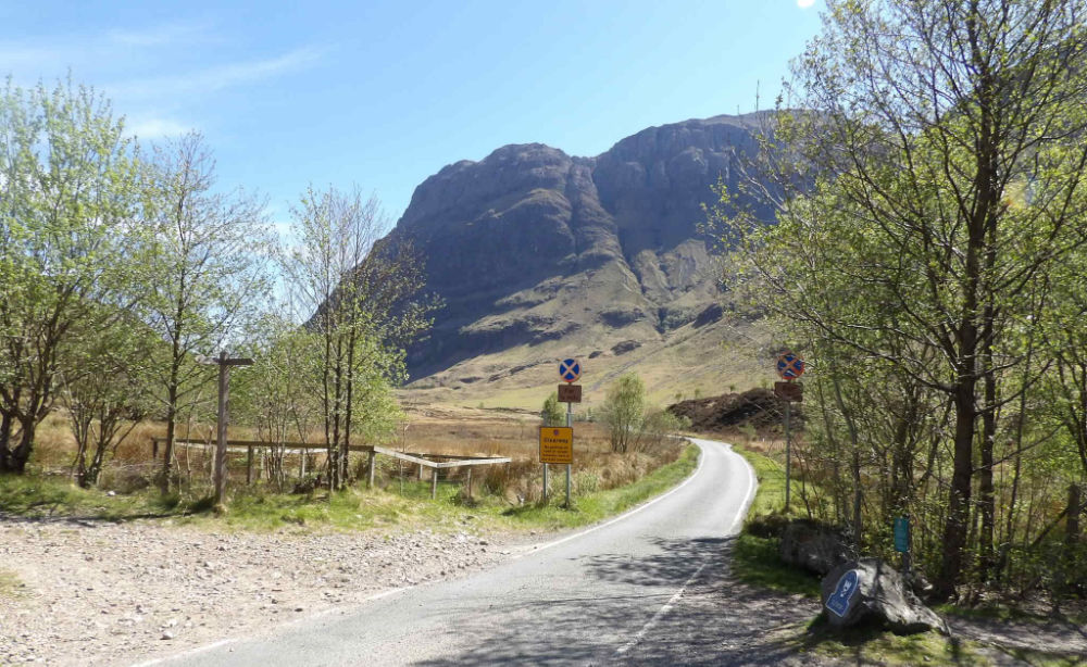 The road to Red Squirrel Campsite