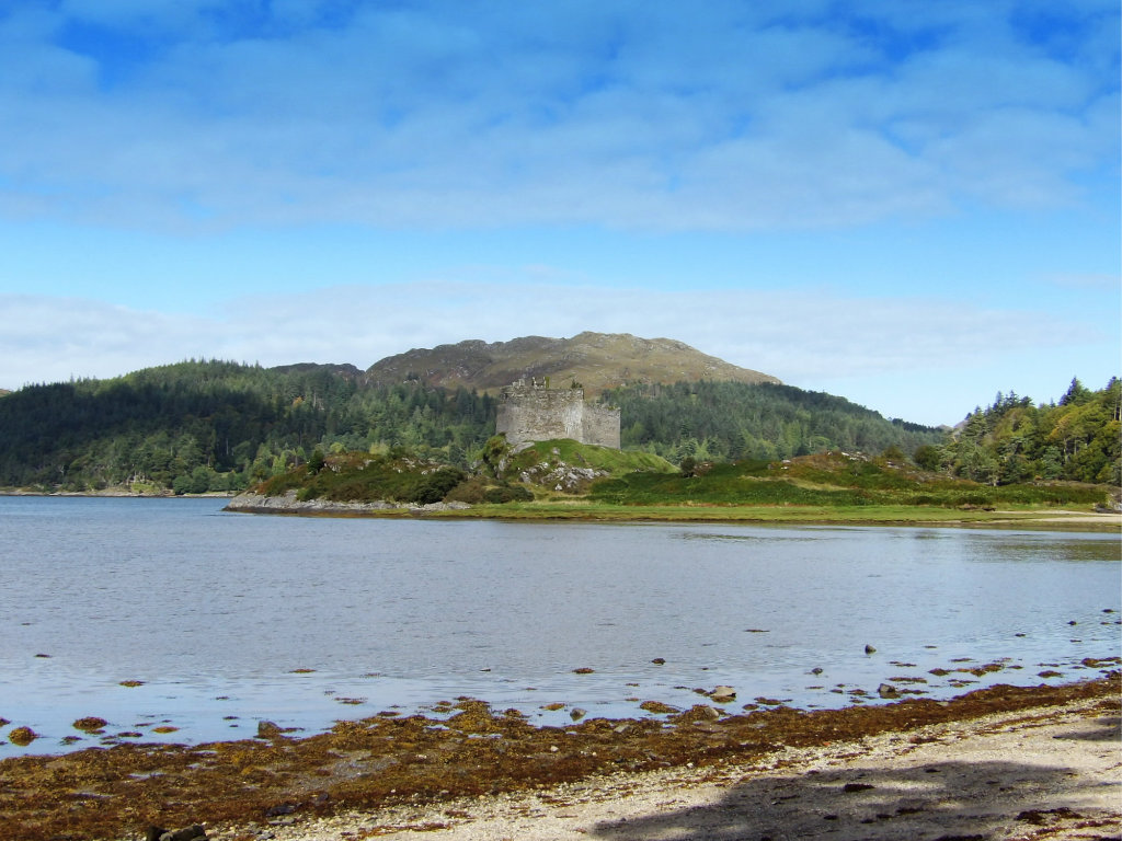 The castle is perched on the tidal island Eilean Tioram in Loch Moidart
