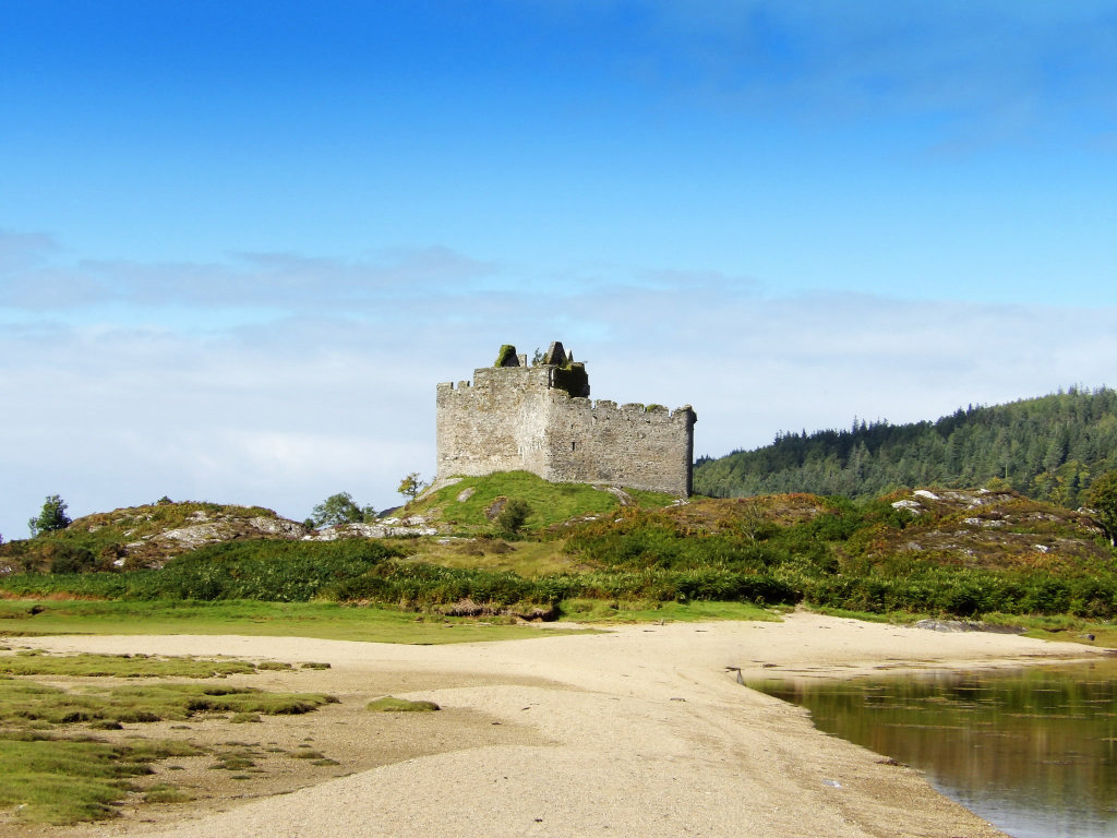 Castle Tioram the ancient fortress of the MacDonalds.