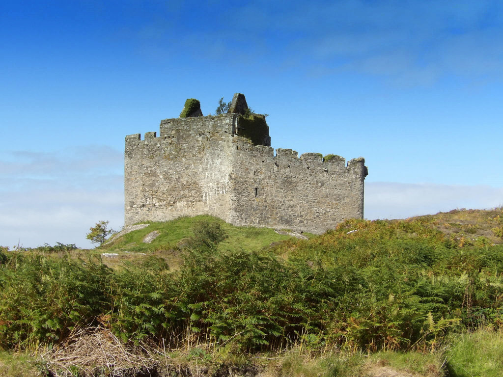 Castle Tioram sometimes home to Amy who was the founder of the Macdonalds of Clanranald.