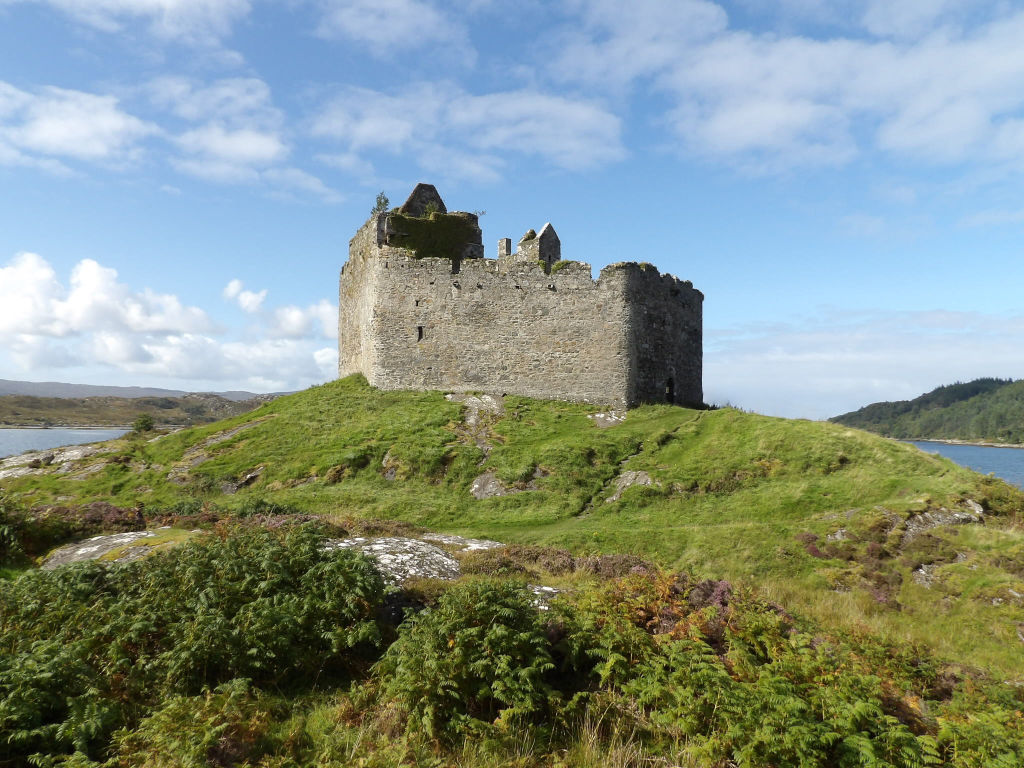 Castle Tioram lies at the entrance to Loch Moidart on the west coast of Ross-shire