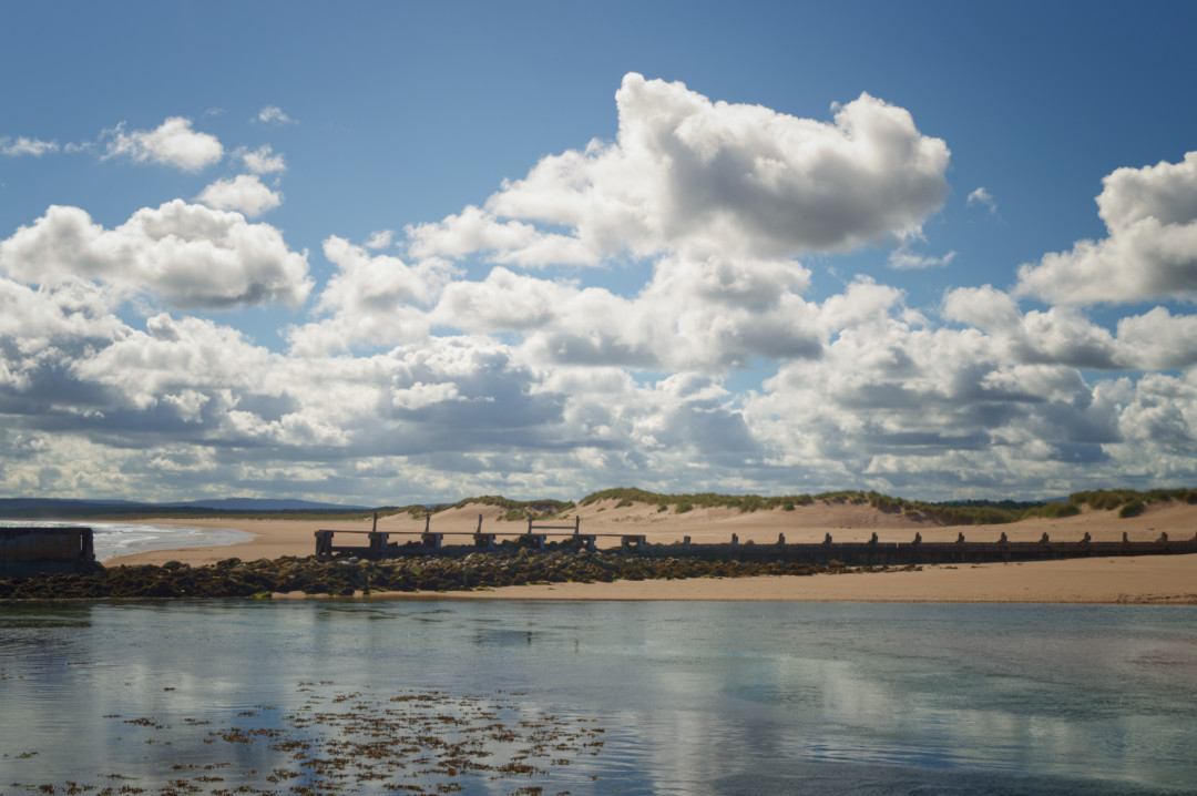 Lossiemouth East Beach and sand dunes