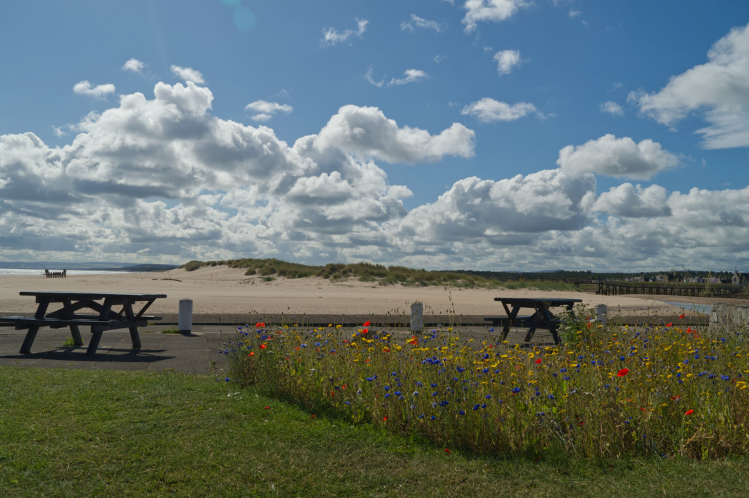 Views at Lossiemouth to west beach