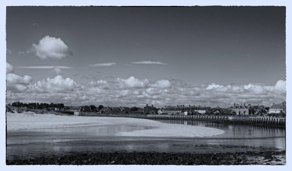 Lossiemouth Black and White Photo
