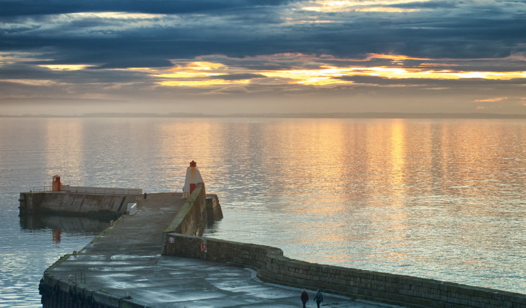 Sunset at Burghead Harhour