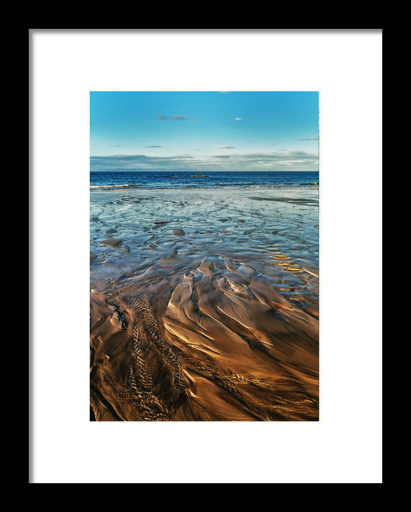 Golden Sands Print with a frame