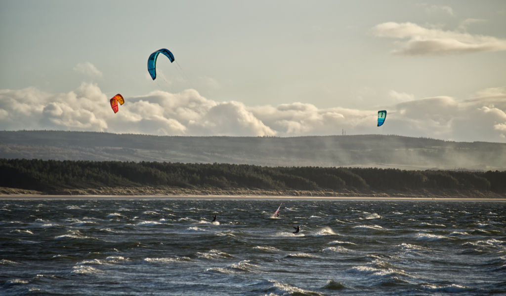 Windsurfing at Burghead