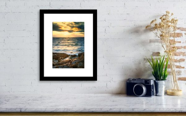 Fishing boat on the Horizon on the wall